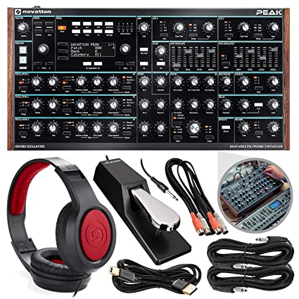 Amazon com: Novation Peak 8-Voice Desktop Polyphonic