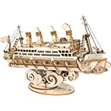 Hands Craft Cruise Ship DIY 3D Wooden Puzzle Model Kit - Laser Cut Wood Pieces, Brain Teaser and Educational STEM Building Mo