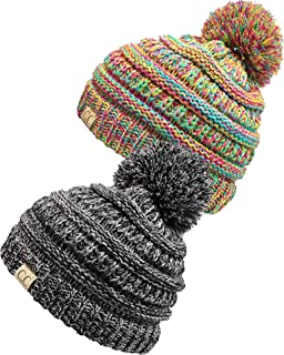 a0bdcd72e7f Funky Junque Kids Baby Toddler Cable Knit Children s Pom Winter Hat Beanie