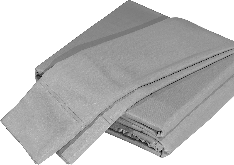 DTY Bedding Luxuriously Soft Bamboo 4-Piece Sheet Set, Oeko-TEX Certified - Queen, Silver Grey