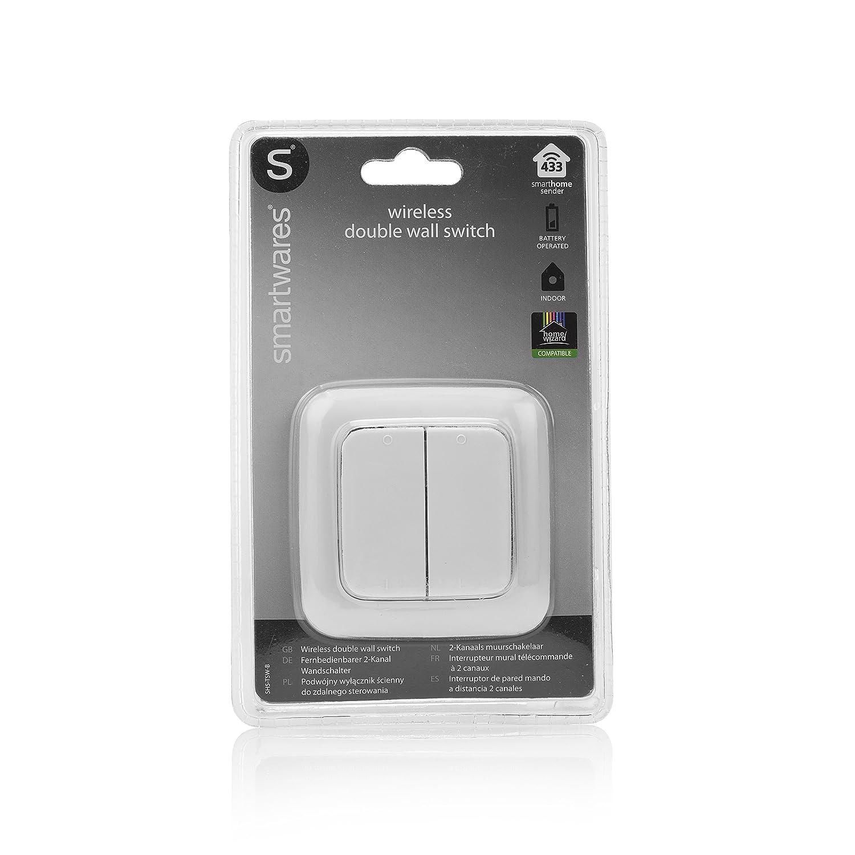 SH5-RBS-10A SmartHome Funk-Einbauschalter 1000 Watt Smartwares SH5-TSW-B SmartHome Funk-Doppelwandschalter 2-Kanal