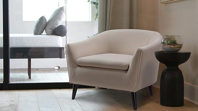 Amazon.com: Jennifer Taylor casa, silla de barril, tapizada ...