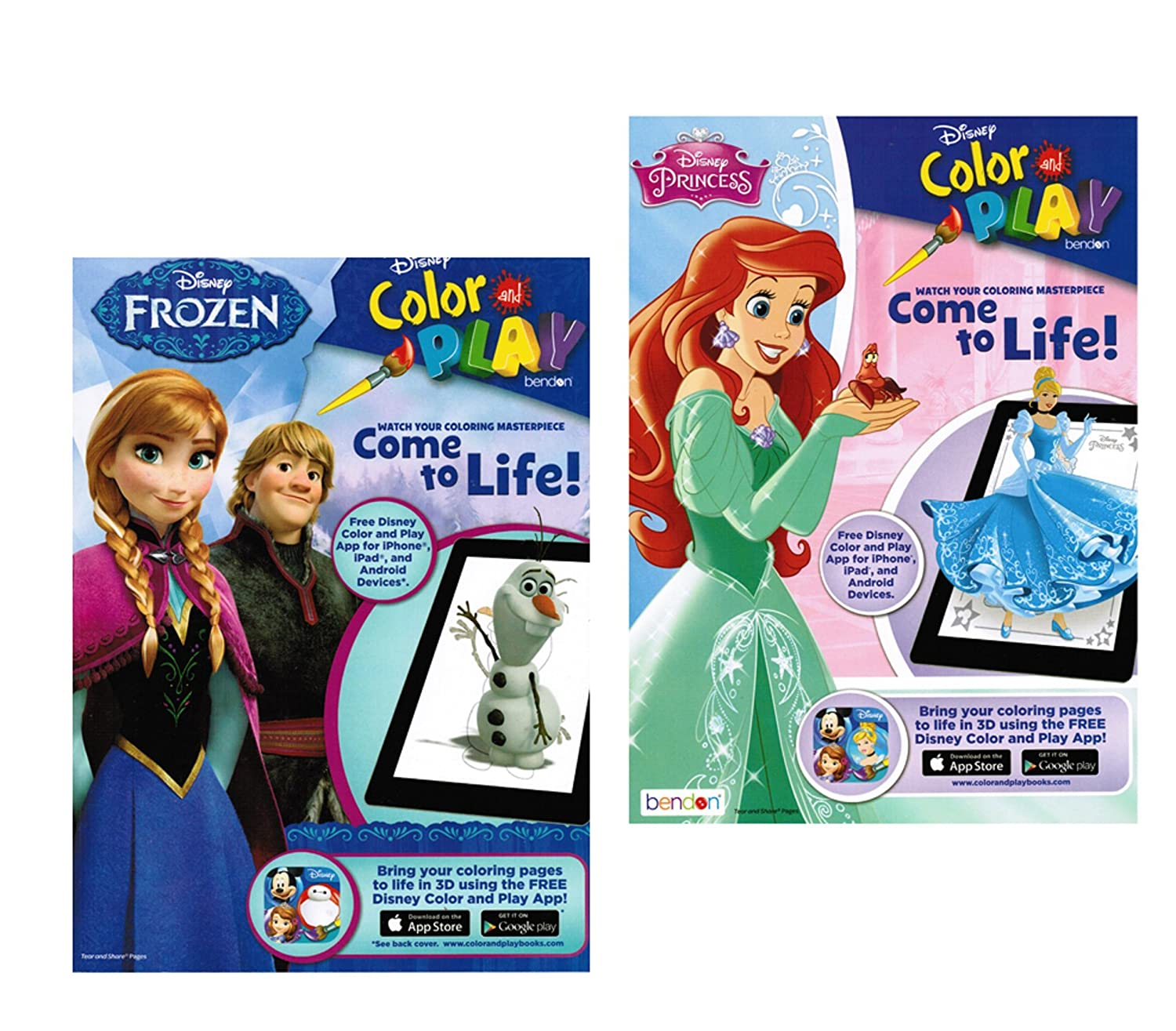 Amazon.com: Disney Color and Play Disney Princess and Frozen: Toys ...