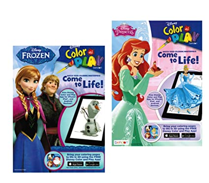 Amazon Com Disney Color And Play Disney Princess And Frozen Toys