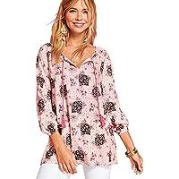 2051e0843e VENCA Camisa de Viscosa Estampada con Cordones Mujer by Vencastyle - 022703