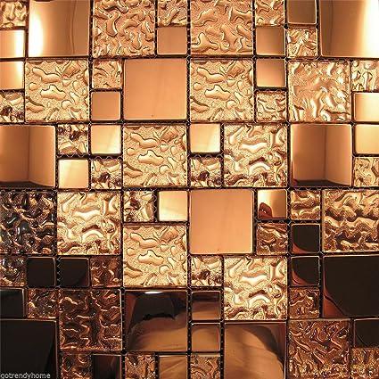 Amazon Com 5 Sheets 12 X12 Copper Metal Pattern Kitchen