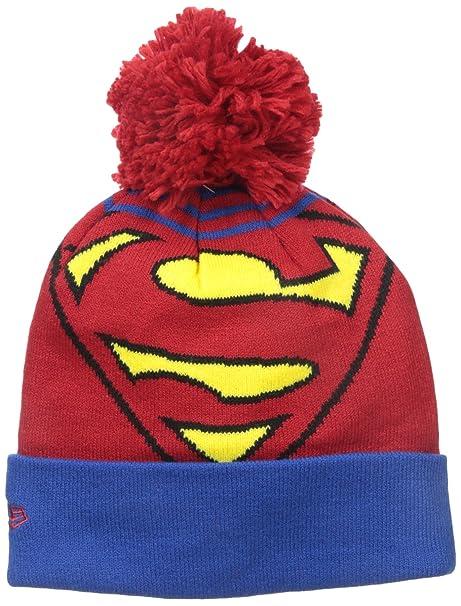 a71c1a96bb6 New Era Cap Men s Superman Logo Whiz Pom Knit Beanie