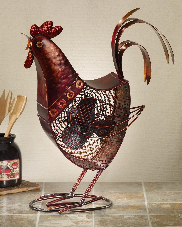DecoBREEZE Rooster Table Fan