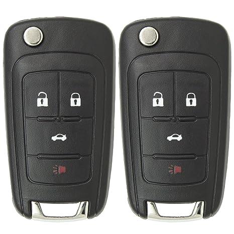 amazon com keyless2go new keyless remote 4 button flip car key fob