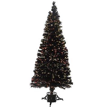 Weihnachtsbaum Schwarz Weiß.Werchristmas Weihnachtsbaum Glasfaser 6 Ft 1 8 M Schwarz Weiß