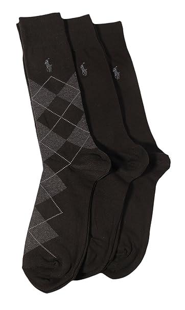 Ralph Lauren Calcetines 3 Pack Argyle Hombre Black/Black/Black Argyle: Amazon.es: Ropa y accesorios