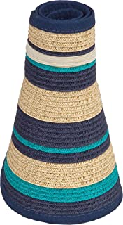 caf68b18582d5 Amazon.com  Karen Keith Paper Braid Wide Brim Roll Up Sun Visor Hat ...