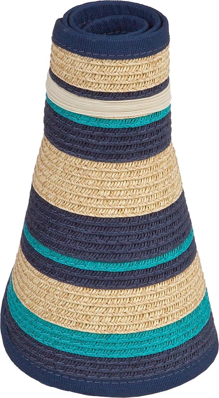 5059a11147f44 Karen Keith Paper Braid Wide Brim Roll Up Sun Visor Hat (Free