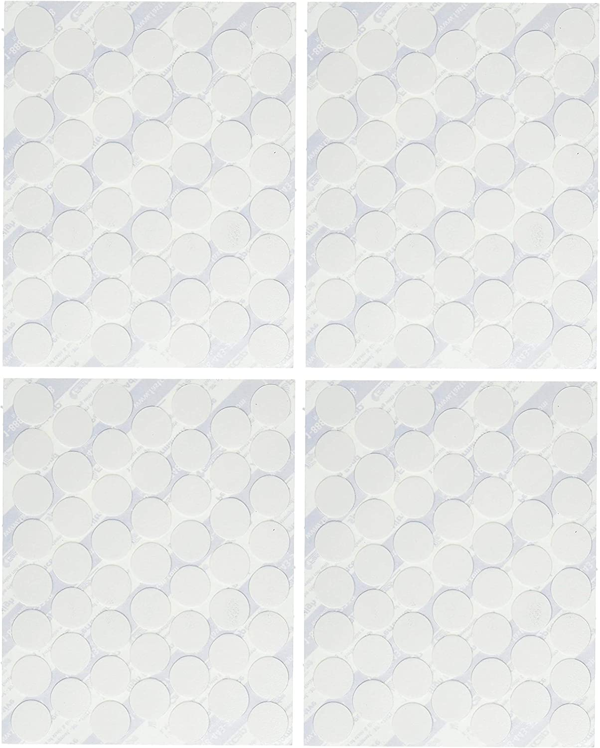 FastCap FC.SP.14MM.WH Adhesive Cover Caps PVC, White (Four Pack)