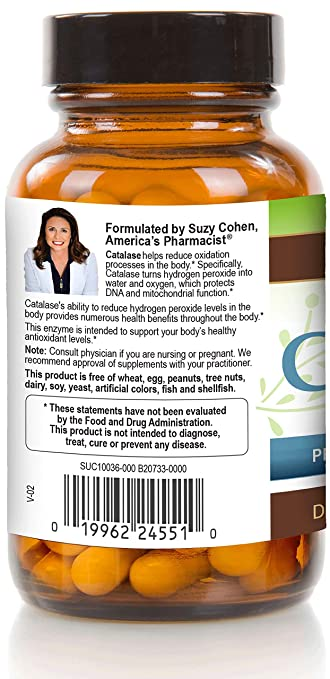 Catalase 12,500 CATu (500mg) Supplement Potent Antioxidant to Neutralize  Hydrogen
