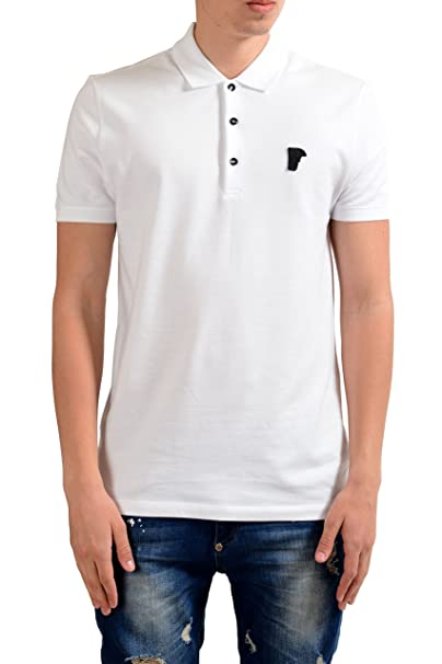 1a14464fc Image Unavailable. Image not available for. Color: Versace Collection Men's White  Short Sleeves Polo Shirt ...