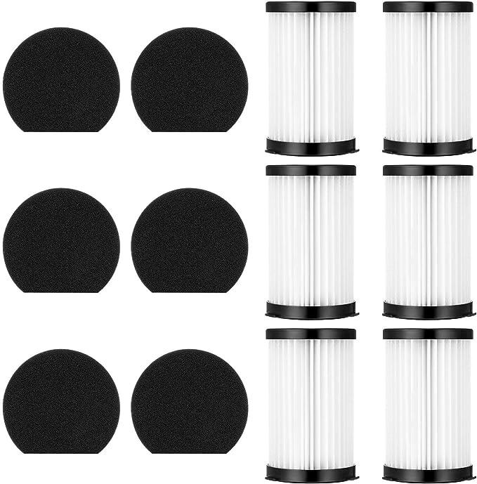Funnytime Kits 12 piezas con 6 filtros + 6 esponjas para aspiradora Moosoo D600 Ariete 2761 Modelo XCMS006: Amazon.es: Hogar