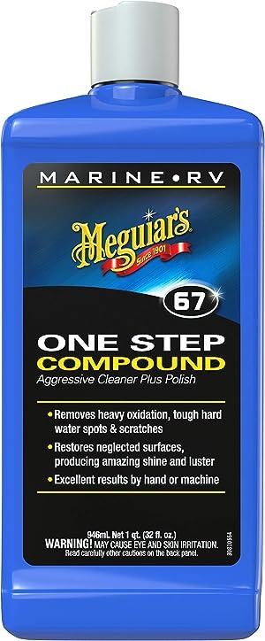Meguiar's M6732 Marine/RV One Step Compound, 32 oz