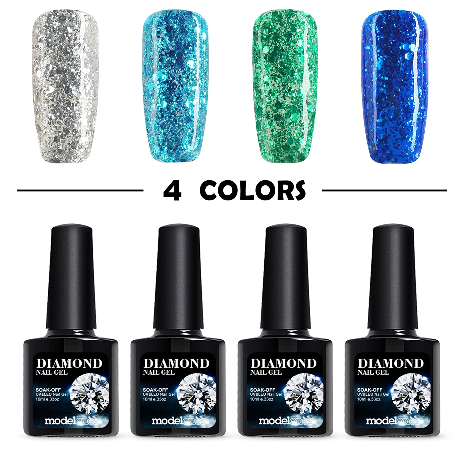 Amazon.com : Modelones Diamond Series Soak Off UV LED Gel Nail ...