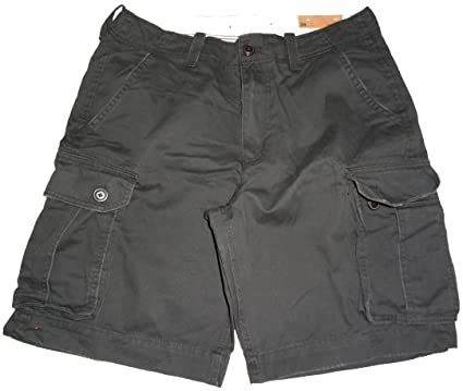American Eagle Outfitters Men's Classic Cargo Shorts Black (31 ...