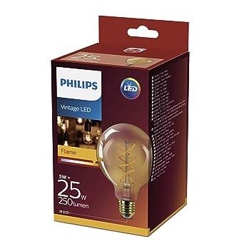 Philips Bombilla LED estándar E27, 5 W equivalentes a 25 W en incandescencia, luz
