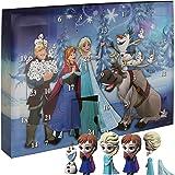TW24 Disney Frozen Adventskalender - mit Stickern - Stempel - Motiv Radiergummi und Puzzle Radiergrummi