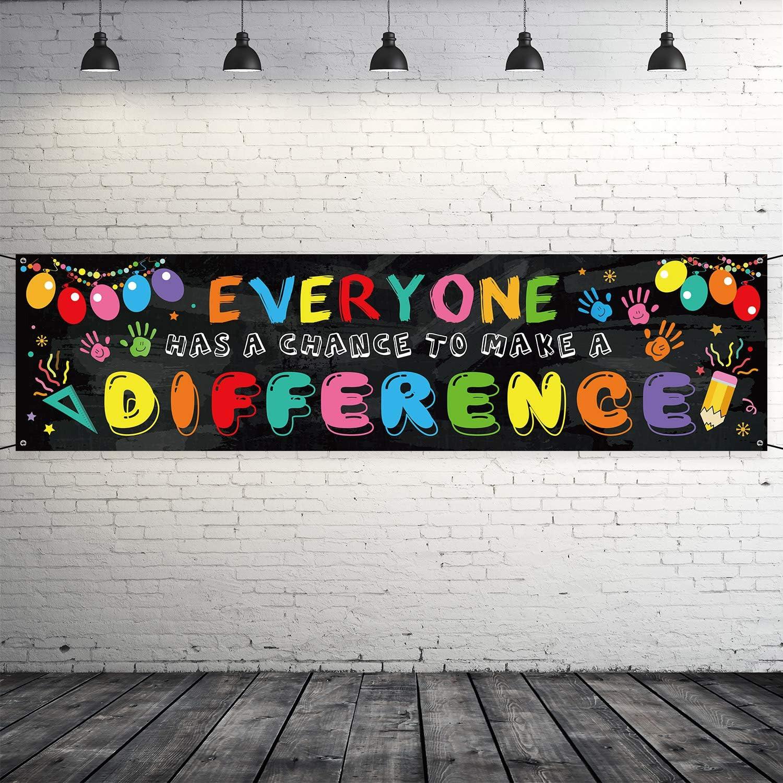 cartel positivo para los estudiantes 78.7 x 19.7 pulgadas Cartel motivacional para aula pancarta decoraci/ón educativa para el aula