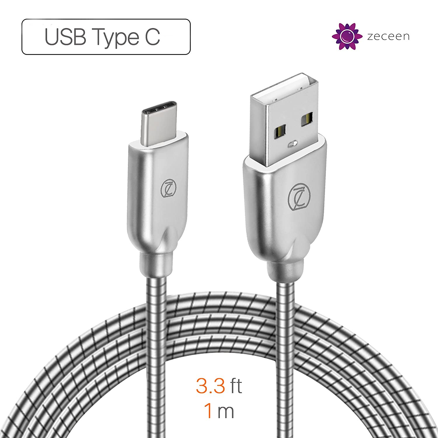 Amazon.com: ZECEEN Metal USB-C to USB 3.0 Cable – Fast Charging ...