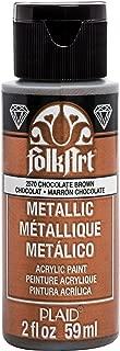 product image for FolkArt Metallic Paint, 2 oz, Brown chocolate 2 Fl Oz