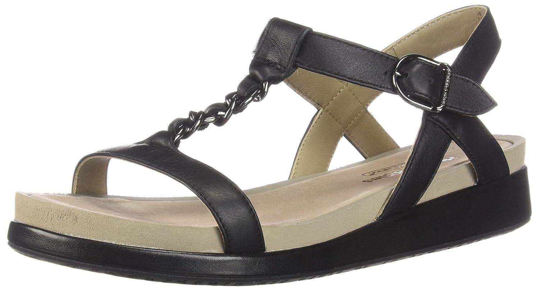 Hush Puppies Women's Chrysta Chain T Wedge Sandal B0746X166L 10 B(M) US|Black