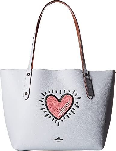 c95e53a1b825 Amazon.com  COACH Women s Keith Haring Market Tote Bp Ice Blue One Size   Shoes