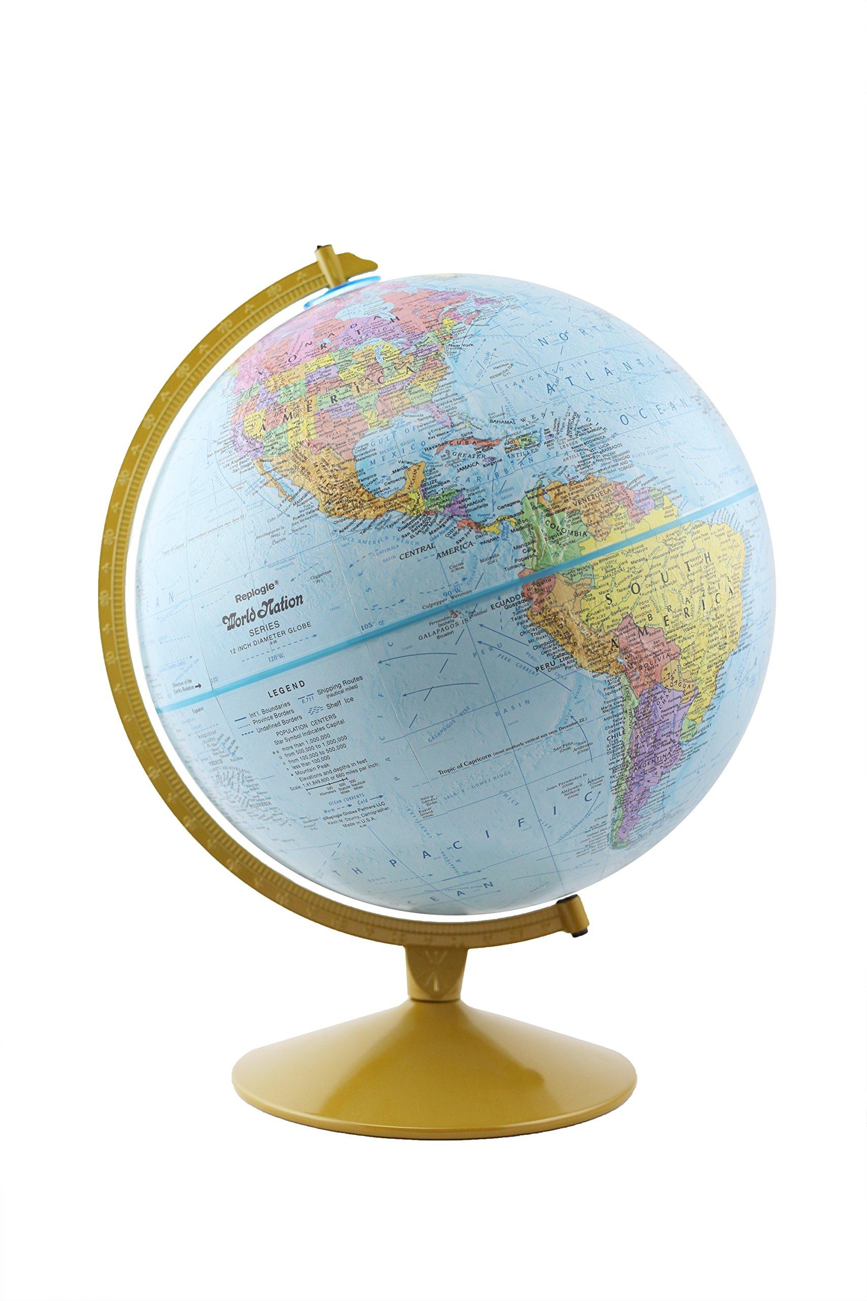 Replogle Globes Explorer Spanish Language Globe, 12-Inch Diameter by Replogle