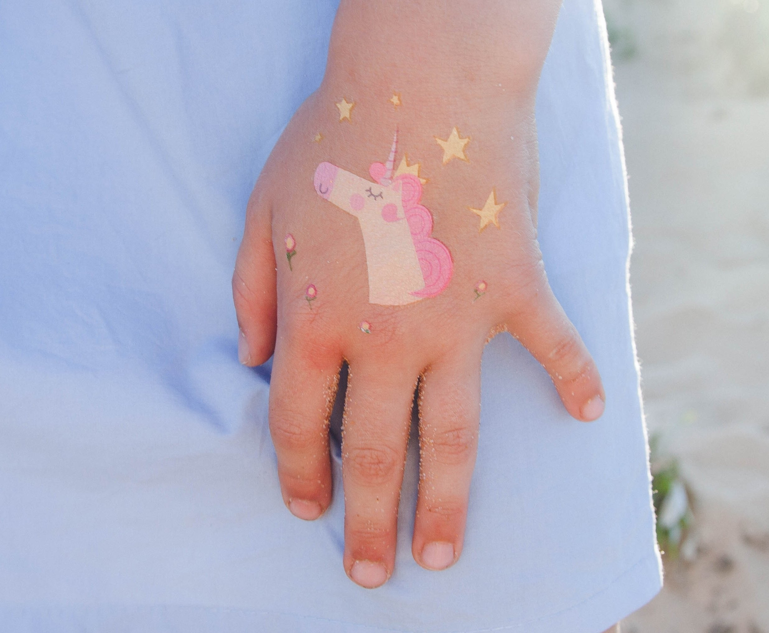 Unicorn Temporary Tattoos for Kids - Unicorn Party Favors, Birthday Decorations and Supplies - Non-toxic and Waterproof - Pack of 16 sheets (32 Fake Tattoos) 8