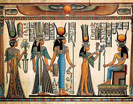 Queen Nefertari offering Egyptian art Canvas Wall Art Print Home Decor