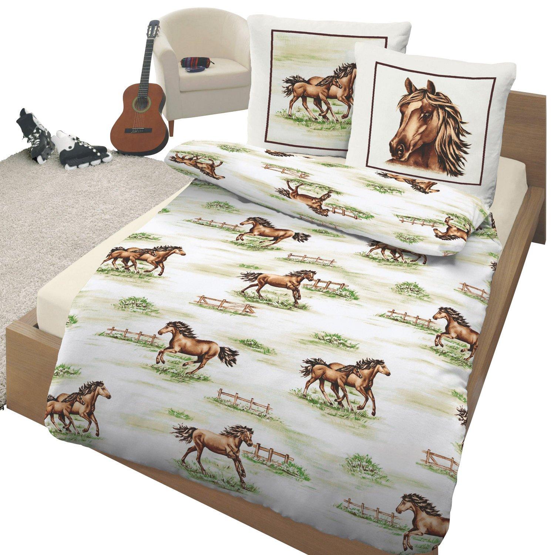 Kinderbutt Bettwäsche Renforcé weiß Größe 135x200 cm (80x80 cm)