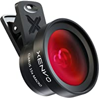 Xenvo iPhone Camera Lens Kit Pro - Macro Lens & Wide Angle Lens with LED Light, Clip-On Cell Phone Camera Lenses for iPhone, Android, Samsung Mobile Phones and Tablets