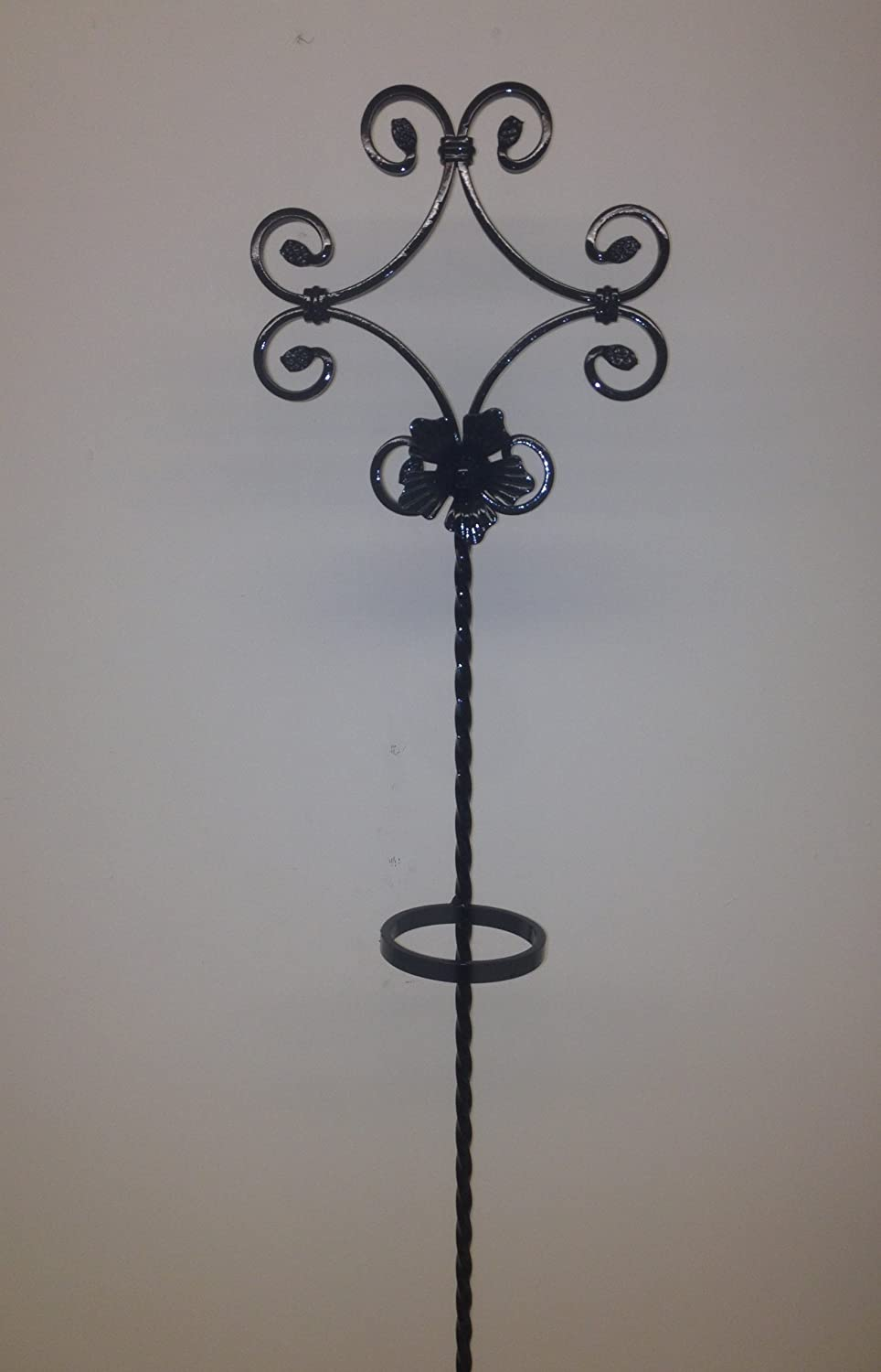 Wrought iron flower stand vase holder memorial plaque amazon wrought iron flower stand vase holder memorial plaque amazon garden outdoors reviewsmspy
