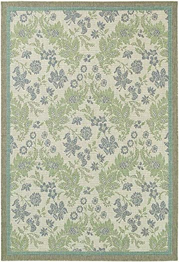 Couristan 2481 3212 Monaco Palermo Area Rugs, 8-Feet 6-Inch by 13-Feet, Champagne