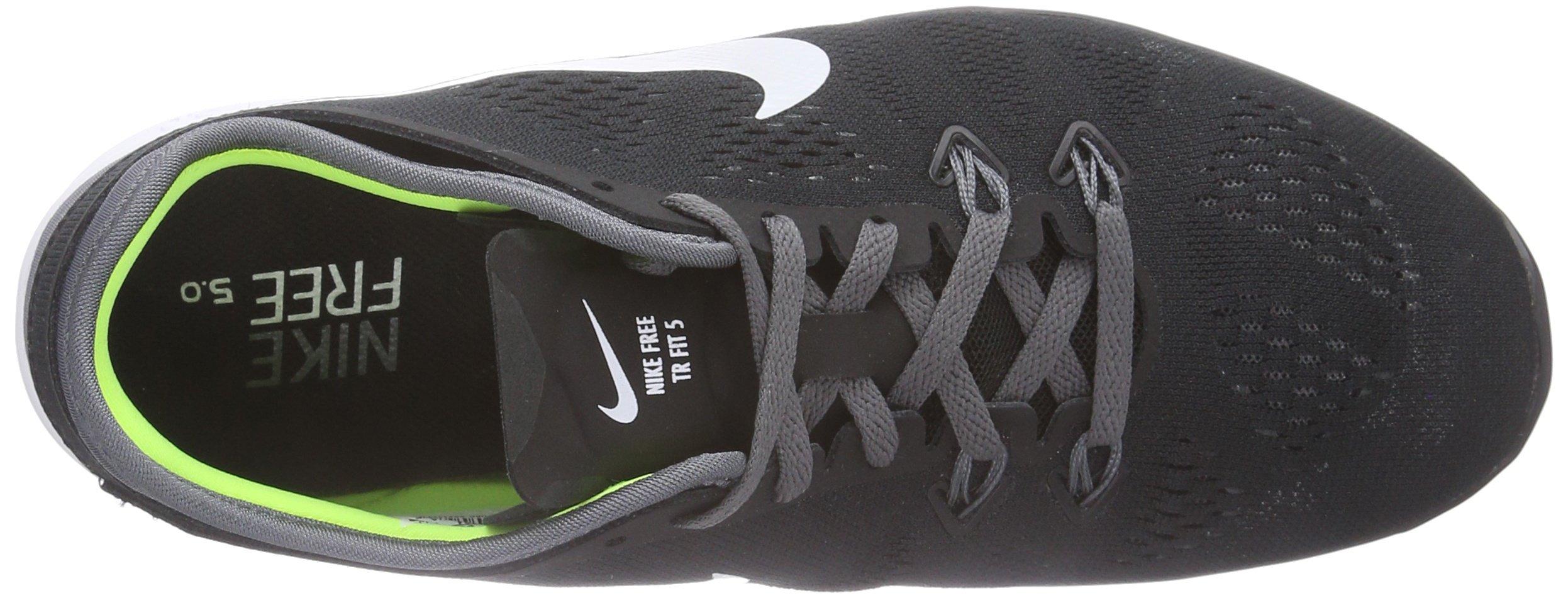 Nike Womens Free 5.0 Tr Fit 5 Black/White/Dark Grey/White Training Shoe 5 Women US by Nike (Image #7)