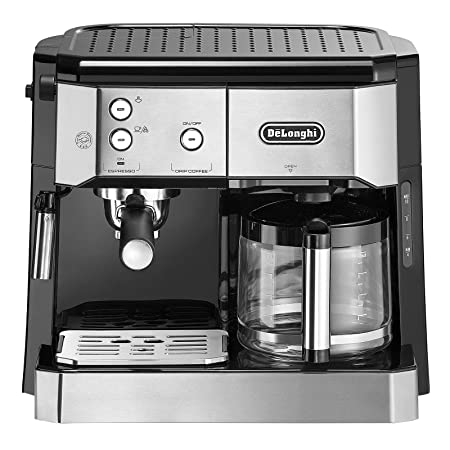 DeLonghi BCO 421.S cafetera automatica, 1750 W, 1 Liter, Acero Inoxidable, Negro, Plata