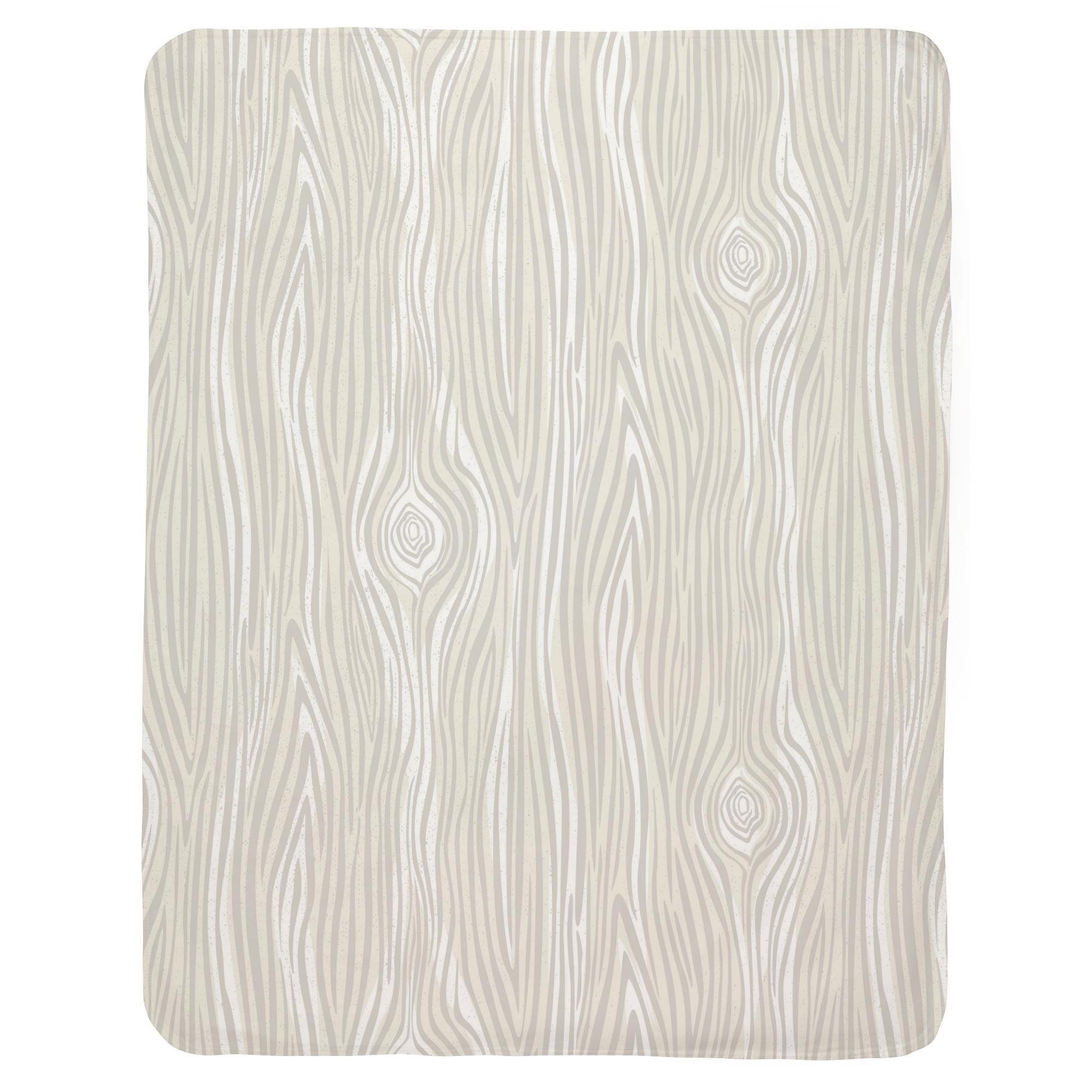 Carousel Designs French Gray Large Woodgrain Mini Crib Blanket by Carousel Designs (Image #2)