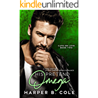 His Pretend Omega: Nonshifter MM Mpreg Romance (Cafe Om Love Book 2) (English Edition)