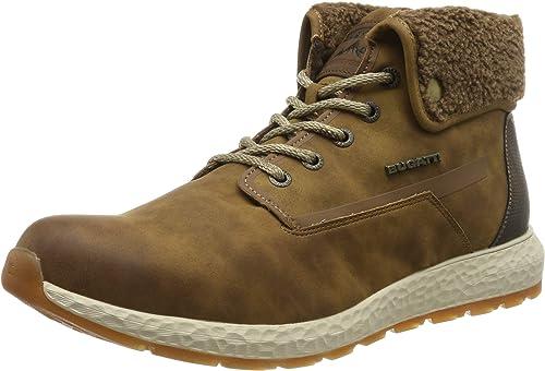 bugatti Herren 321589405500 Hohe Sneaker, Braun, 43 EU