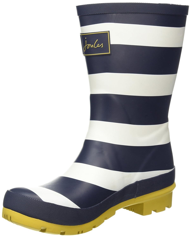 Navy Wide Stripe Rubber Joules Women's Molly Welly Rain Boot