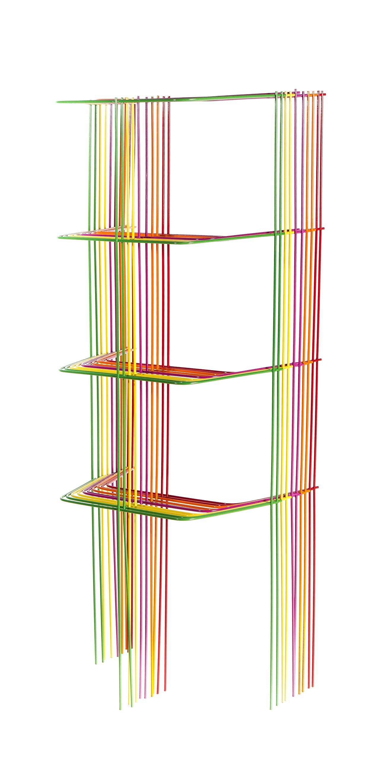 Glamos Heavy Duty Sectional Cage Bright Color Combo Box, 46-Inch, Assorted, 10-Pack