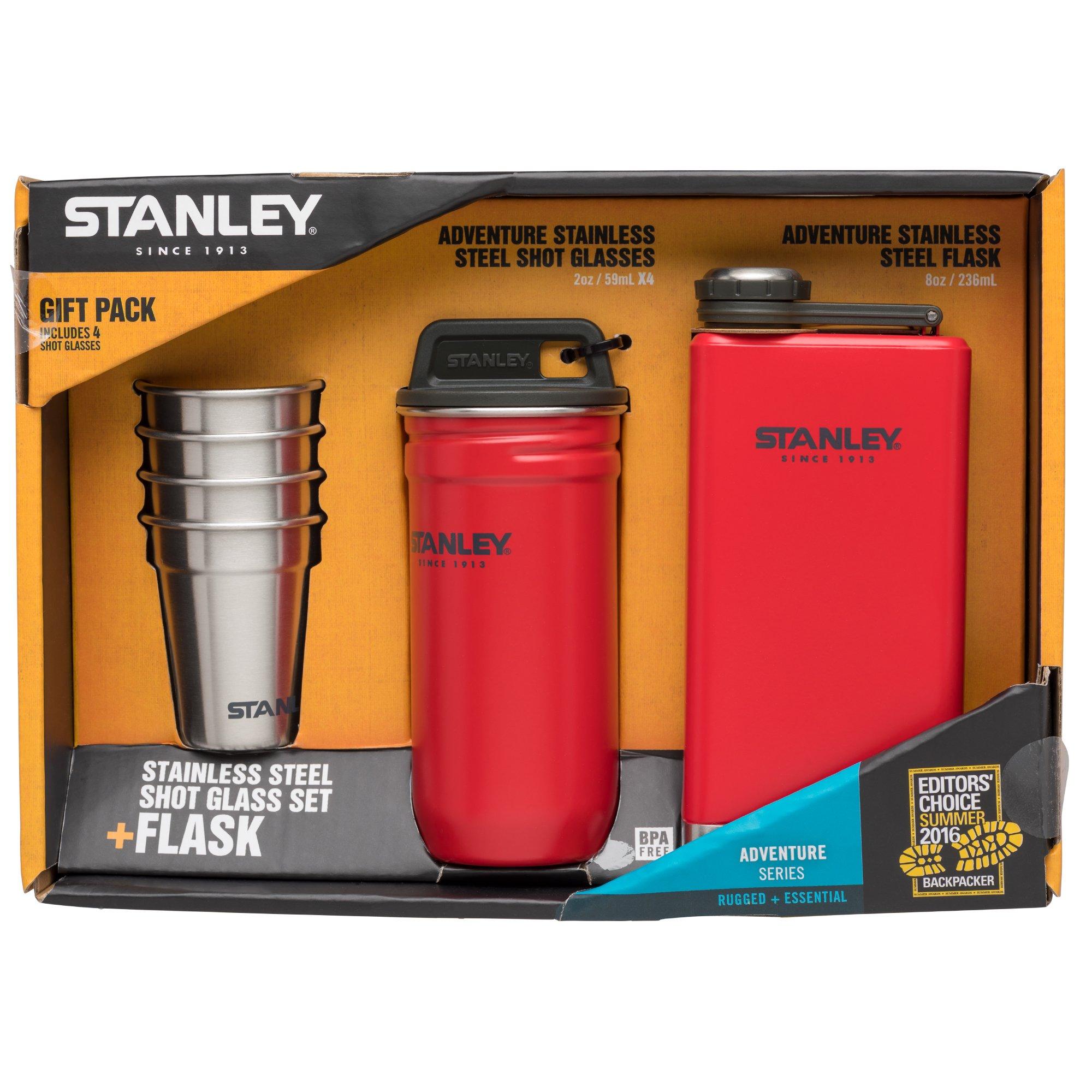 Stanley Adventure Steel Shots + Flask, Gift Set, Flannel Red
