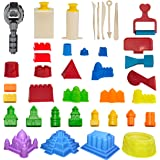 CoolSand Advanced Building Sand Molds & Tools Kit - Works with All Other Play Sand Brands - 37Piece Includes: Castle, Bricks