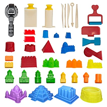 c56af79ef3 CoolSand Advanced Building Sand Molds and Tools Kit - Works with All Other  Play Sand Brands