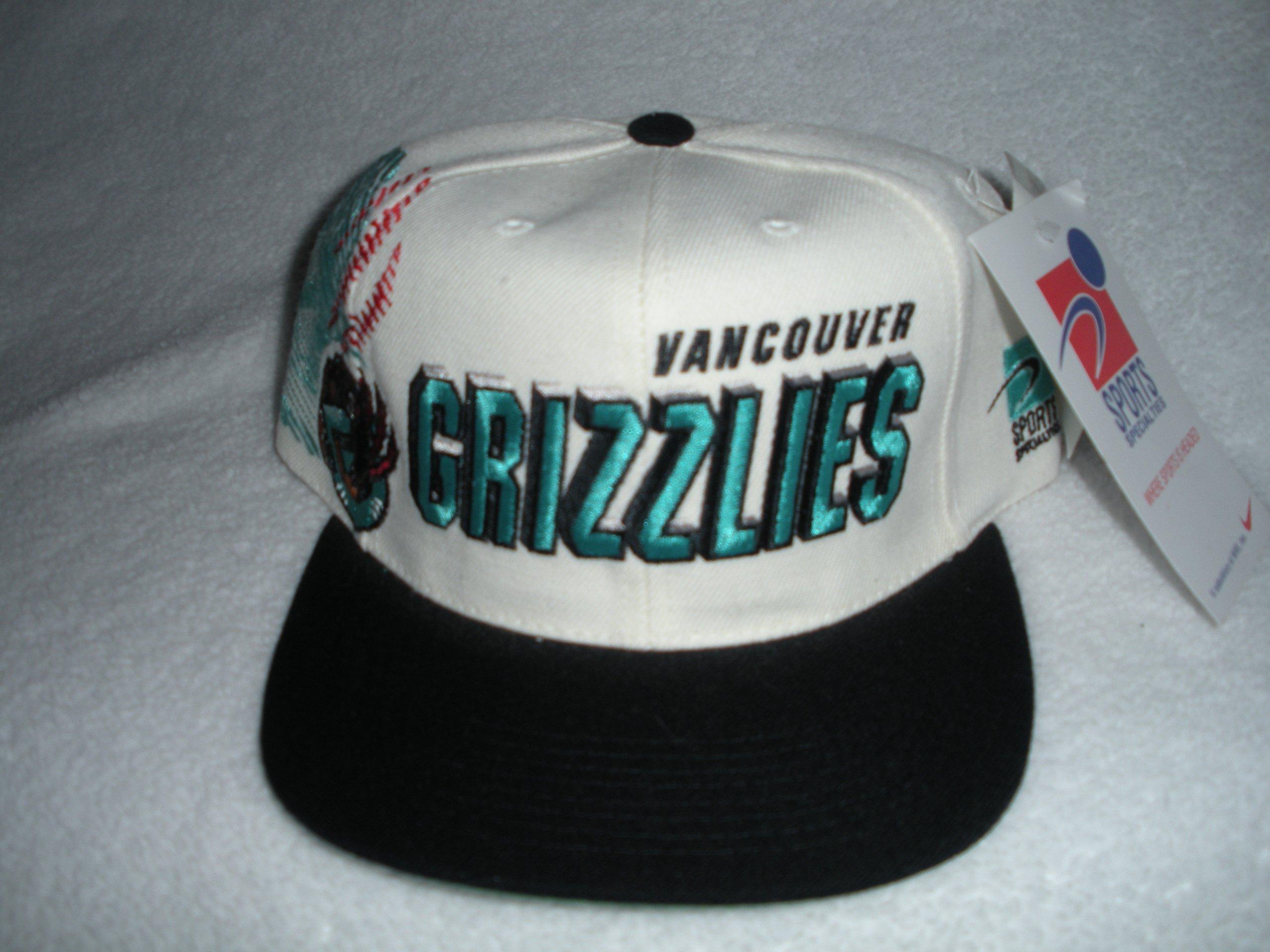 Vancouver Grizzlies Vintage Sports Specialties Shadow-Script Snapback Hat