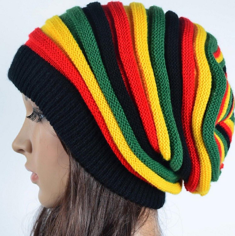 Slouchy Rasta Hat Peak Crown Marley Reggae Jamaica Cool Runnings Unisex Cap L//XL